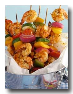 Grilled Shrimp Kabobs -- mmm.