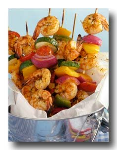 Grilled Shrimp Kabobs -- mmm.